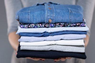 Folded Shirts - Mandy's Laundry